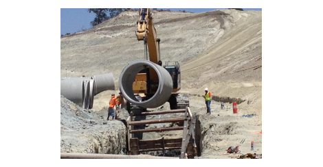 Laying concrete pipe