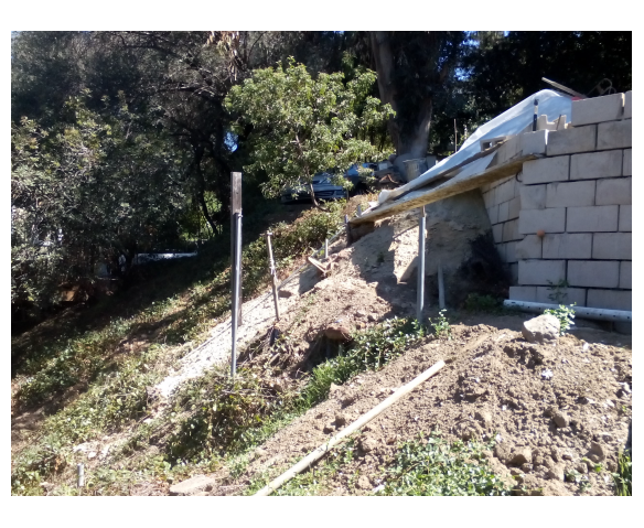 Un-permitted Grading & Retaining Wall